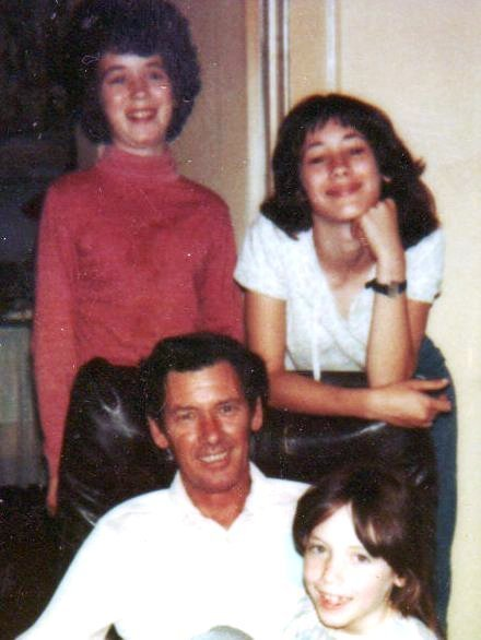 Me with Daddy and my sisters in 1979. Which one am I?