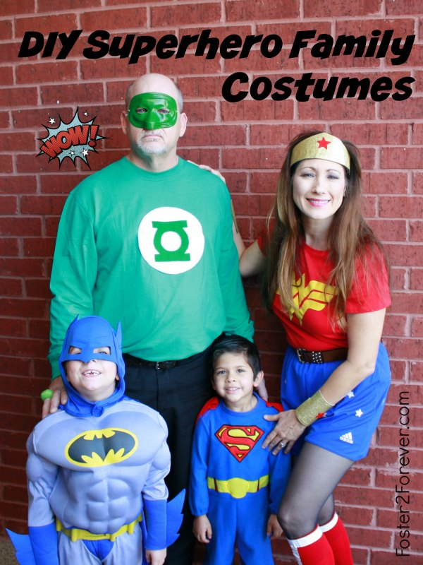 How to make a wonder woman costume 88 other diy costumes check out this family of superheroes great halloween costume idea for family or group solutioingenieria Choice Image