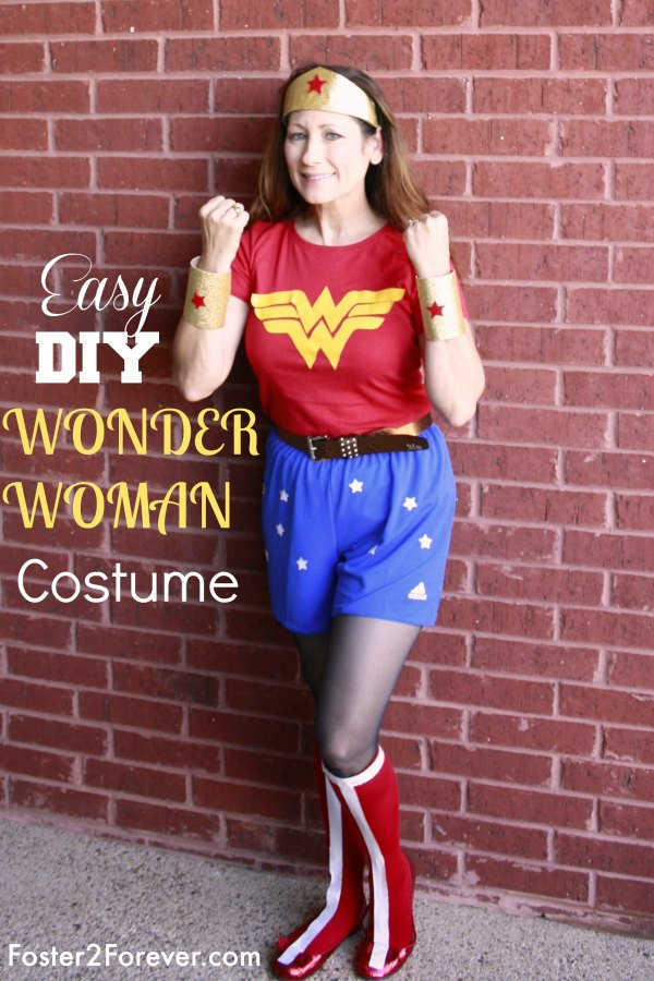 wonder-woman-costume-ideas-running-superhero  sc 1 st  Foster2Forever & How to Make a Wonder Woman Costume + 88 Other DIY Costumes ...