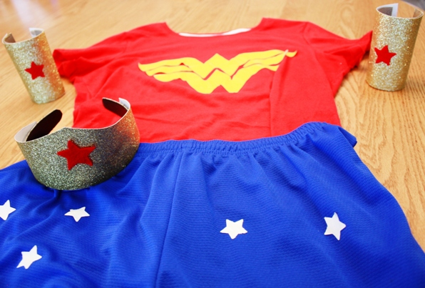 how-to-make-wonder-woman-costume-running