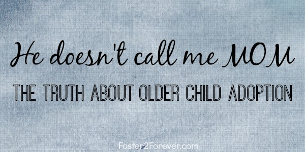 A heartfelt post about older child adoption. #fostercare