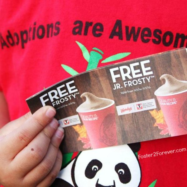 Get your Frosty coupons from Wendys to support foster care adoption.