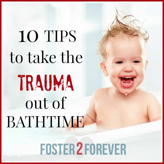 Check out these tips for kids bathtime for spd and trauma