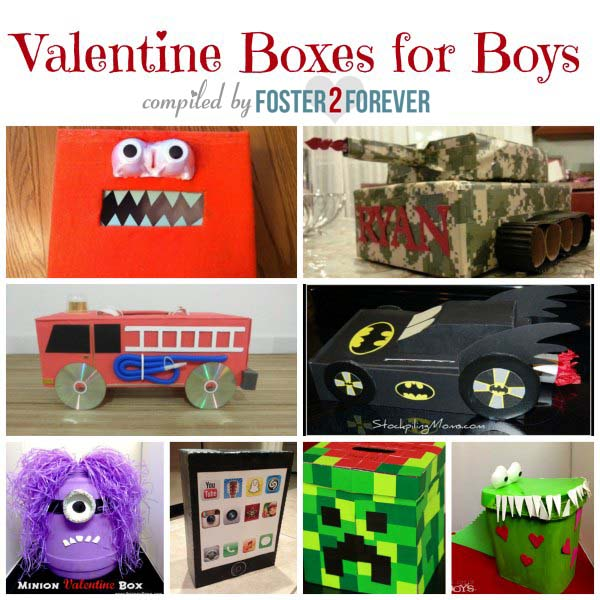 Check out these fabulous Valentines Day boxes for boys