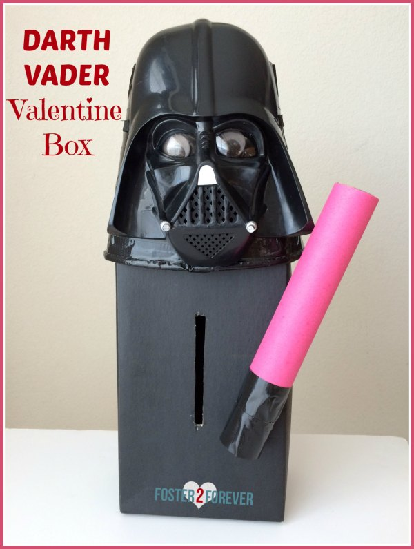 Check out this Star Wars Darth Vader Valentine box! Great idea for boys!