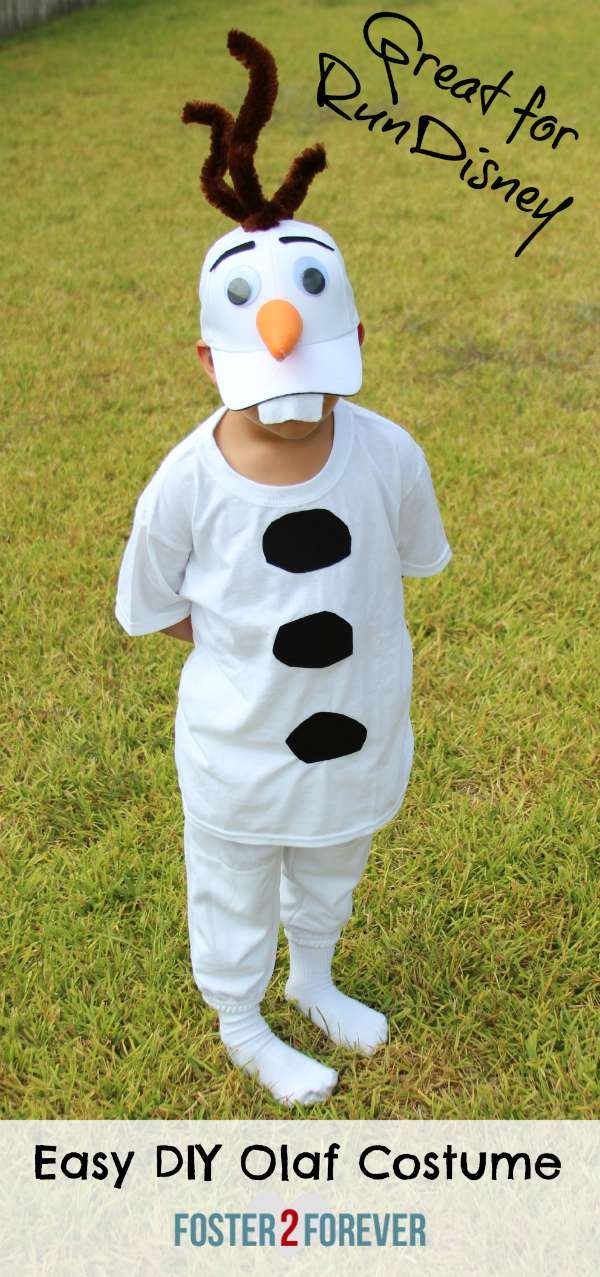 Easy DIY Frozen Olaf Costume for RunDisney