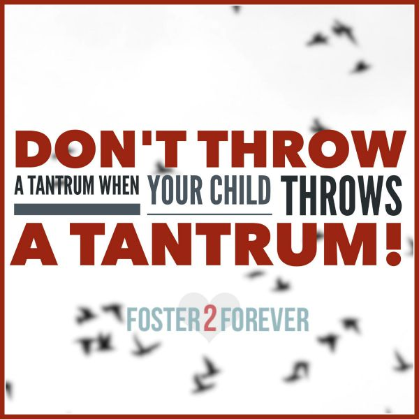 When your child throws a tantrum, make sure you dont either. Great parenting advice.