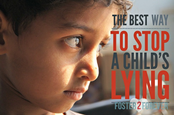 How to stop your child from lying. Ignore the lie, not the child. Great parenting advice.