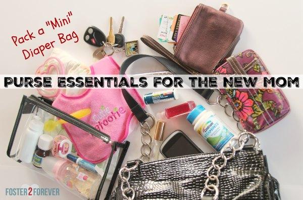 a03da555531d Mini Diaper Bag and Purse Essentials for New Mom - Foster2Forever