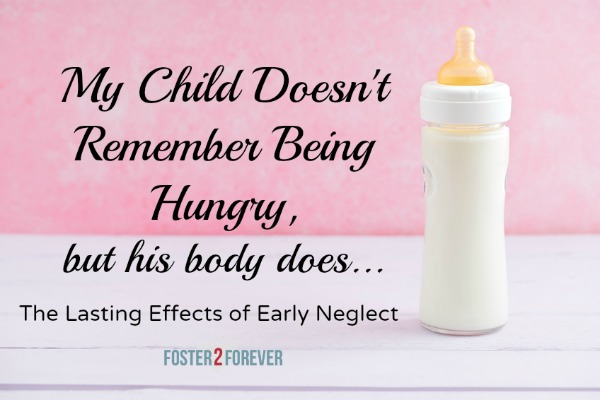 The signs of infant neglect may not be apparent for many years.