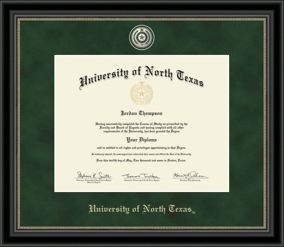 university-of-north-texas-college-diploma-frame